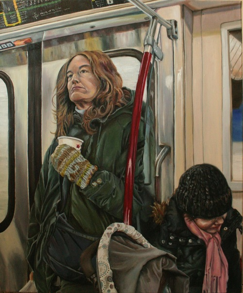 A Woman on the Subway - Sara Mozafari